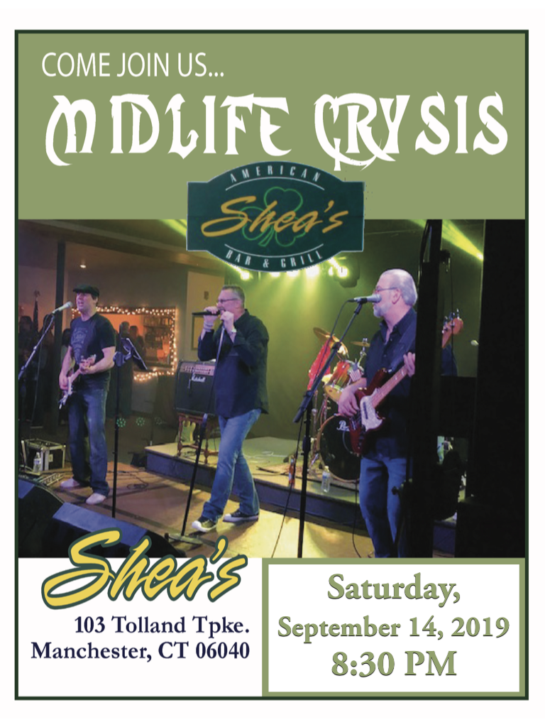 Midlife Crysis Shea's, Manchester, CT